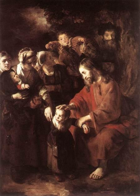 Chrsit Blessing the Children, Nichoaes Maes, 1652-53